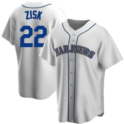 Richie Zisk Seattle Mariners Men's Replica Home Cooperstown Collection Jersey - White