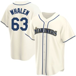 Rob Whalen Seattle Mariners Men's Replica Alternate Jersey - Cream