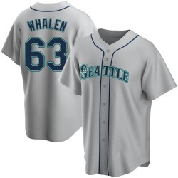 Rob Whalen Seattle Mariners Men's Replica Road Jersey - Gray