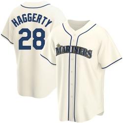 Sam Haggerty Seattle Mariners Men's Replica Alternate Jersey - Cream