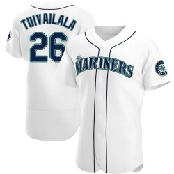 Sam Tuivailala Seattle Mariners Men's Authentic Home Jersey - White