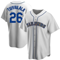Sam Tuivailala Seattle Mariners Men's Replica Home Cooperstown Collection Jersey - White
