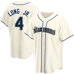 Shed Long Seattle Mariners Men's Replica Alternate Jersey - Cream
