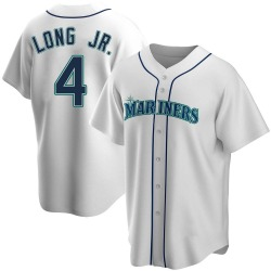 Shed Long Seattle Mariners Men's Replica Home Jersey - White