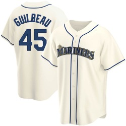 Taylor Guilbeau Seattle Mariners Men's Replica Alternate Jersey - Cream