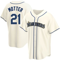 Taylor Motter Seattle Mariners Men's Replica Alternate Jersey - Cream
