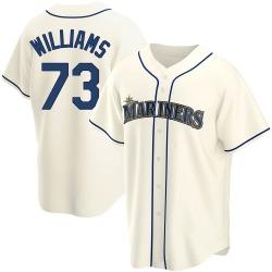 Taylor Williams Seattle Mariners Men's Replica Alternate Jersey - Cream