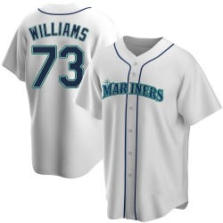 Taylor Williams Seattle Mariners Men's Replica Home Jersey - White