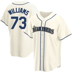 Taylor Williams Seattle Mariners Youth Replica Alternate Jersey - Cream