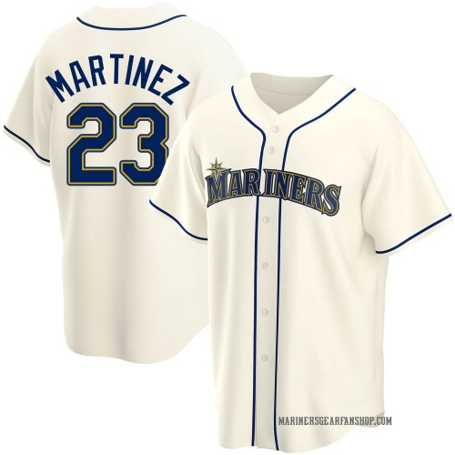 Tino Martinez Seattle Mariners Men's Replica Alternate Jersey - Cream