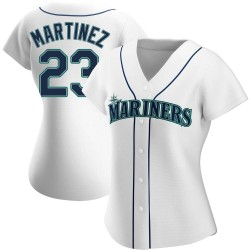 Tino Martinez Seattle Mariners Women's Authentic Home Jersey - White
