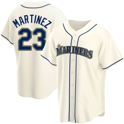 Tino Martinez Seattle Mariners Youth Replica Alternate Jersey - Cream