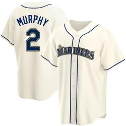 Tom Murphy Seattle Mariners Men's Replica Alternate Jersey - Cream