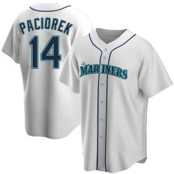 Tom Paciorek Seattle Mariners Men's Replica Home Jersey - White