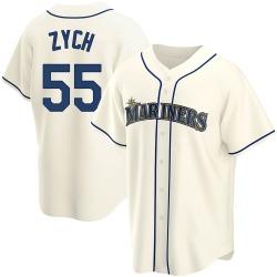 Tony Zych Seattle Mariners Men's Replica Alternate Jersey - Cream