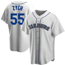 Tony Zych Seattle Mariners Men's Replica Home Cooperstown Collection Jersey - White