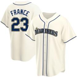Ty France Seattle Mariners Men's Replica Alternate Jersey - Cream