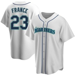 Ty France Seattle Mariners Men's Replica Home Jersey - White