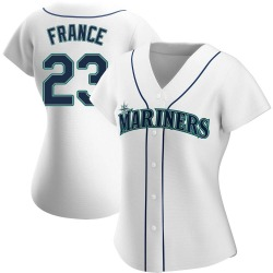 Ty France Seattle Mariners Women's Authentic Home Jersey - White