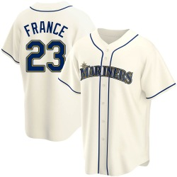 Ty France Seattle Mariners Youth Replica Alternate Jersey - Cream