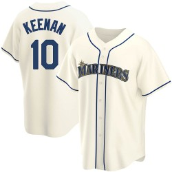 Tyler Keenan Seattle Mariners Youth Replica Alternate Jersey - Cream