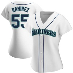 Yohan Ramirez Seattle Mariners Women's Authentic Home Jersey - White