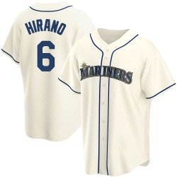 Yoshihisa Hirano Seattle Mariners Men's Replica Alternate Jersey - Cream