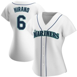 Yoshihisa Hirano Seattle Mariners Women's Authentic Home Jersey - White