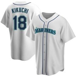 Yusei Kikuchi Seattle Mariners Youth Replica Home Jersey - White