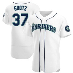 Zac Grotz Seattle Mariners Men's Authentic Home Jersey - White