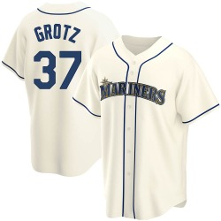 Zac Grotz Seattle Mariners Men's Replica Alternate Jersey - Cream