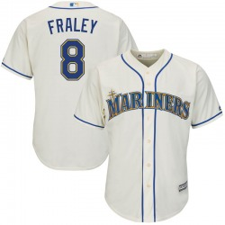 Jake Fraley Seattle Mariners Youth Replica Majestic Cool Base Alternate Jersey - Cream