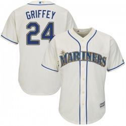 Ken Griffey Seattle Mariners Youth Replica Majestic Cool Base Alternate Jersey - Cream