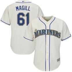 Matt Magill Seattle Mariners Youth Replica Majestic Cool Base Alternate Jersey - Cream