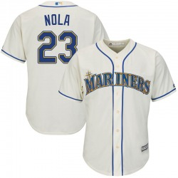 Austin Nola Seattle Mariners Youth Replica Majestic Cool Base Alternate Jersey - Cream