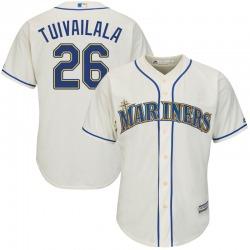 Sam Tuivailala Seattle Mariners Youth Replica Majestic Cool Base Alternate Jersey - Cream