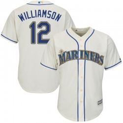 Mac Williamson Seattle Mariners Youth Replica Majestic Cool Base Alternate Jersey - Cream