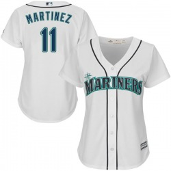 Edgar Martinez Seattle Mariners Women's Replica Cool Base Home Majestic Jersey - White