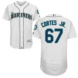 Nestor Cortes Jr. Seattle Mariners Men's Authentic Majestic Flex Base Home Collection Jersey - White