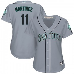 Edgar Martinez Seattle Mariners Women's Authentic Cool Base Road Majestic Jersey - Gray