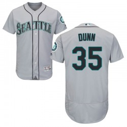 Justin Dunn Seattle Mariners Youth Authentic Majestic Flex Base Road Collection Jersey - Gray