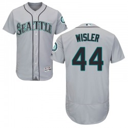 Matt Wisler Seattle Mariners Youth Authentic Majestic Flex Base Road Collection Jersey - Gray