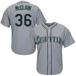 Reggie McClain Seattle Mariners Youth Replica Majestic Cool Base Road Jersey - Gray