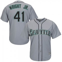 Mike Wright Jr. Seattle Mariners Youth Replica Majestic Cool Base Road Jersey - Gray