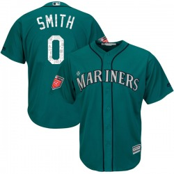 Mallex Smith Seattle Mariners Men's Authentic Majestic Cool Base 2018 Spring Training Jersey - Aqua