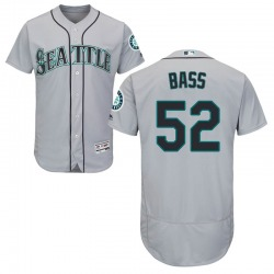 Anthony Bass Seattle Mariners Men's Authentic Majestic Flex Base Road Collection Jersey - Gray