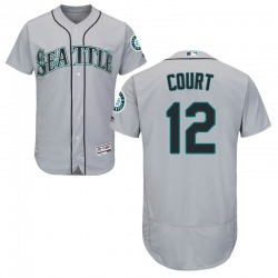 Ryan Court Seattle Mariners Men's Authentic Majestic Flex Base Road Collection Jersey - Gray