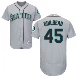 Taylor Guilbeau Seattle Mariners Men's Authentic Majestic Flex Base Road Collection Jersey - Gray