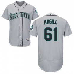 Matt Magill Seattle Mariners Men's Authentic Majestic Flex Base Road Collection Jersey - Gray