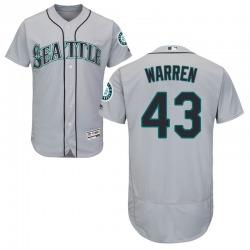Arthur Warren Seattle Mariners Men's Authentic Majestic Flex Base Road Collection Jersey - Gray